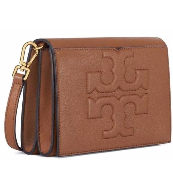 9fcf9d0ad4b2 TORY BURCH Bombe-T Combo Leather CROSSBODY Clutch